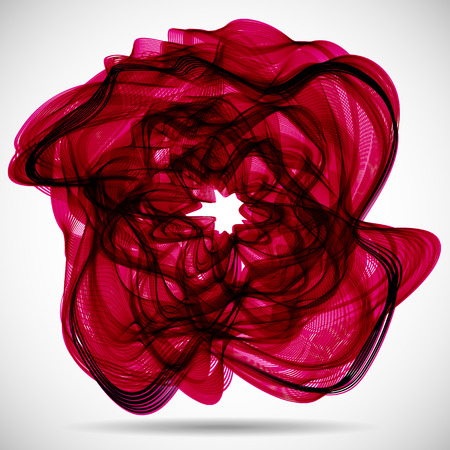 wrinkly: Abstract red flower wave background.
