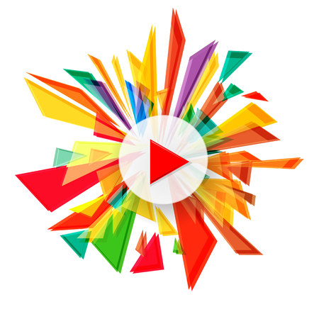 Vector background, abstract colorfull explosion.