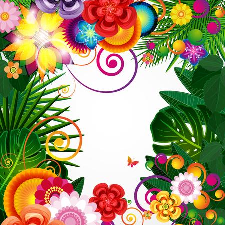 Flowers spring design background, floral pattern, vector illustration. Imagens - 76299195