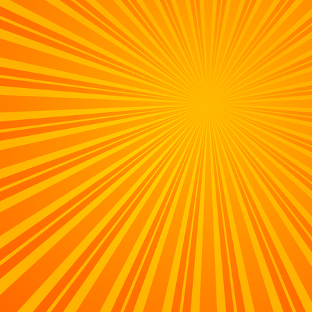 Abstract Retro Rays Orange Background. Illustration
