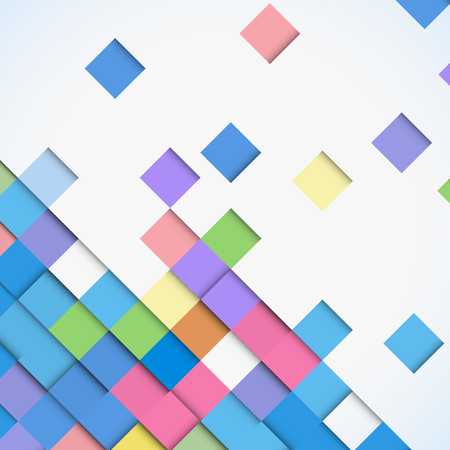 Abstract colorful square mosaic background vector design pattern. Illustration
