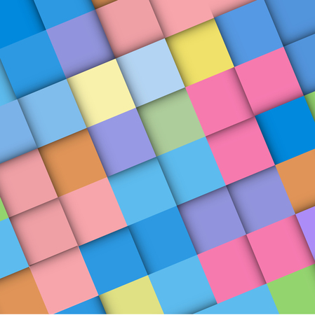 Abstract geometric mosaic background made of colorful square, vector design pattern texture