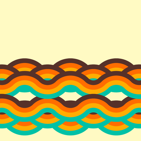Abstract retro background, digital lines and circles, design70s, vector.