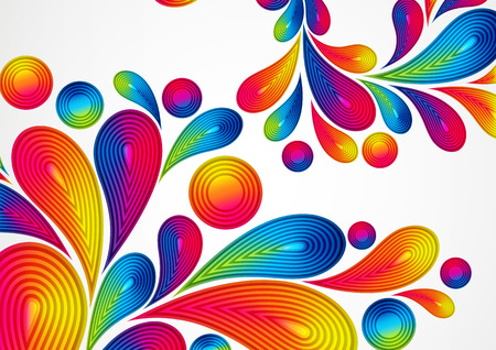 a4 borders: Colorful abstract background with striped drops splash, vector color design, graphic illustration. A4.