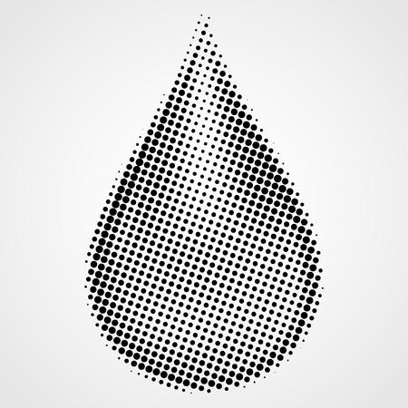 Elemento de semitono del punto negro del vector del diseño aislado en un fondo blanco. Ilustración de vector