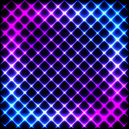 Colorful neon diagonal background, vector abstract illustration.