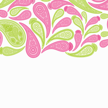 Paisley pink and green design pattern