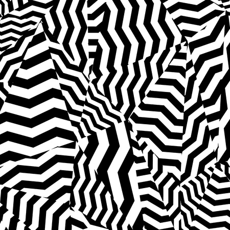 Black and white pattern, abstract geometric contrast background. Vector. Illustration