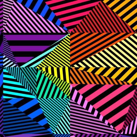 Zwart en kleurrijk patroon, abstracte geometrische contrastachtergrond. Vector.