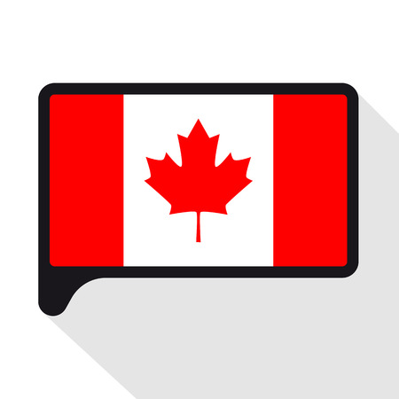 Speech Bubble Flag Of Canada The Symbol Of Independence Day