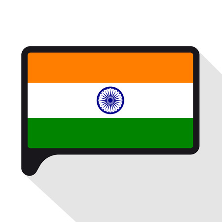 Speech Bubble Flag Of India The Symbol Of Independence Day