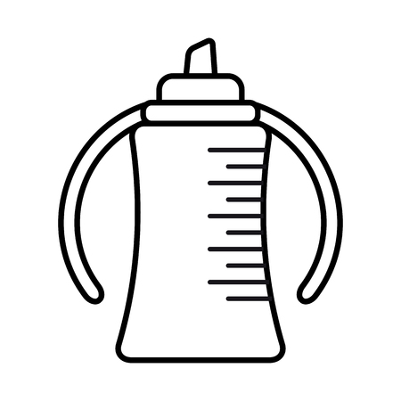 Bottle. Baby icon on a white background, line vector design. Illustration