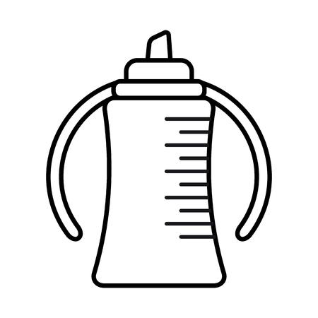 Bottle. Baby icon on a white background, line vector design. Illustration
