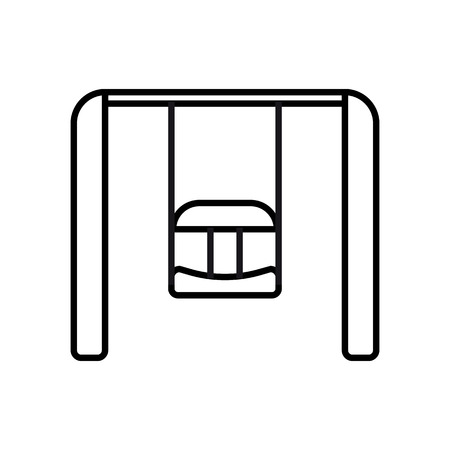 Swing. Baby icon on a white background, line vector design.
