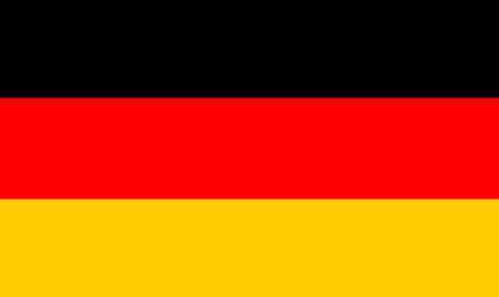 Flag of Germany. Symbol of Independence Day, souvenir soccer game, button language, icon. Ilustração