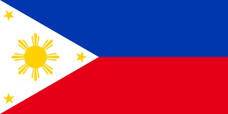 Vlag van Filipijnen. Symbool van Independence Day, souvenir voetbalspel, knoptaal, pictogram. Stock Illustratie