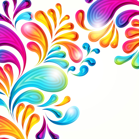 Abstract vector colorful arc-drop background. Color graphic elements. Modern design illustration.