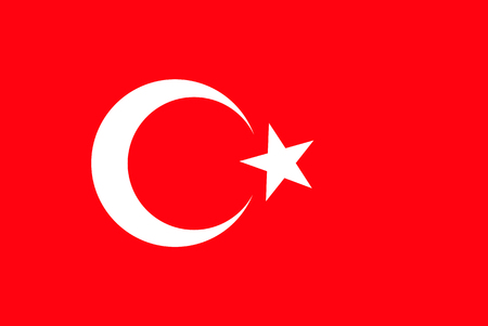 Flag of Turkey. Symbol of Independence Day, souvenir soccer game, button language, icon. Illustration