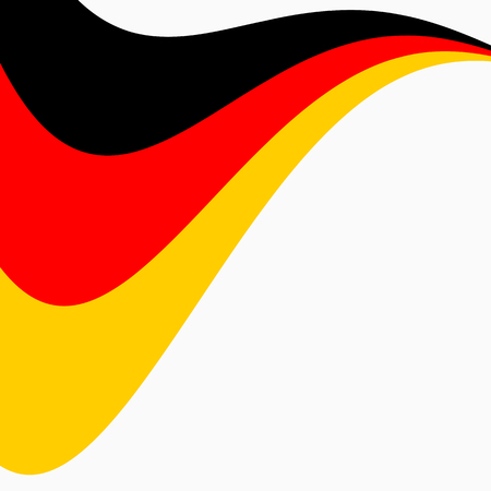Waving Flag of Germany on a white background.