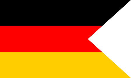Flag of Germany. Symbol of Independence Day, souvenir soccer game banner, language button, icon.