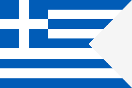 Flag of Greece. Symbol of Independence Day, souvenir soccer game banner, language button, icon.