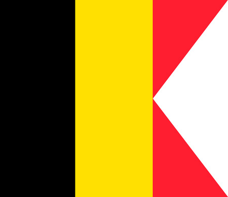 Flag of Belgium. Symbol of Independence Day, souvenir soccer game banner, language button , icon.