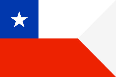 Flag of Chile. Symbol of Independence Day, souvenir soccer game banner, language button , icon.