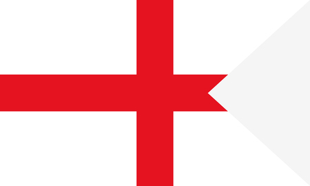 Flag of England. Symbol of Independence Day, souvenir soccer game banner, language button , icon.
