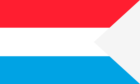 Flag of Luxembourg. Symbol of Independence Day, souvenir soccer game banner, language button , icon.
