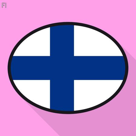 Finn flag speech bubble, social media communication sign, flat business oval icon.