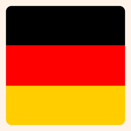 Germany flag button, business icon. Illustration