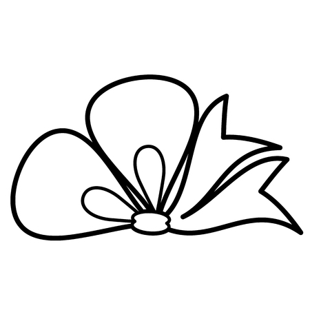 Bow icon. Line art. White background. Social media icon. Business concept. Sign, symbol, web element. Tattoo template. Website pictogram. Imagens - 124511332