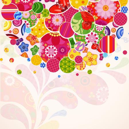 Abstract ornamental floral background. Ilustração