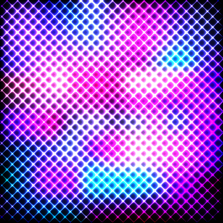 Colorful neon lines on a dark background, vector abstract illustration. Imagens - 124481727