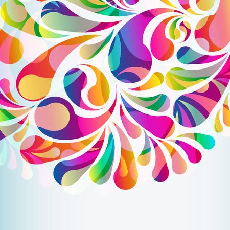 Fondo abstracto colorido arco-gota. Vector.