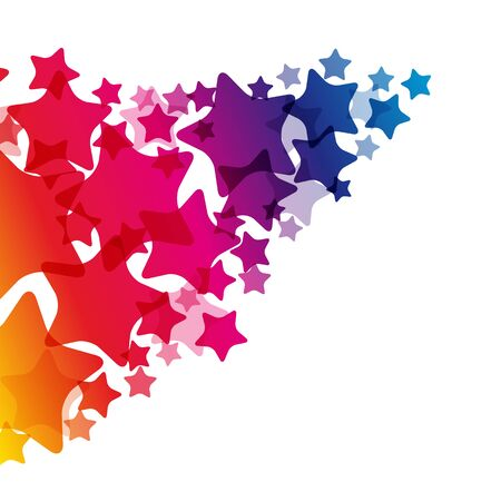 Rainbow stars  border, vector  texture, carnival bright decoration card.