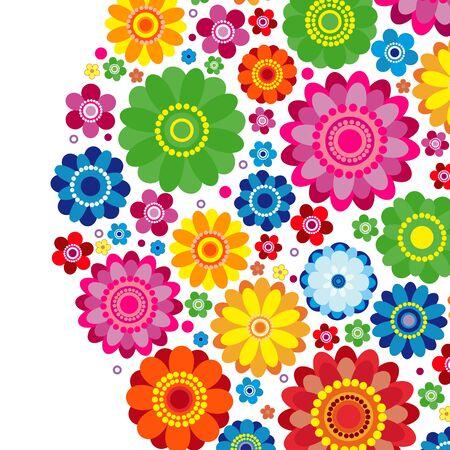 Flowers spring design on a white  background, floral vector illustration. Imagens - 124838603
