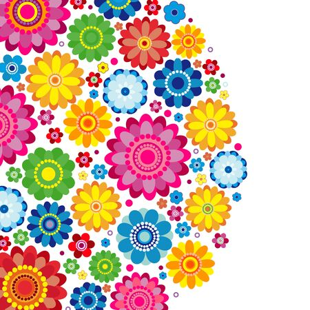 Flowers spring design on a white  background, floral vector illustration. Imagens - 125100966