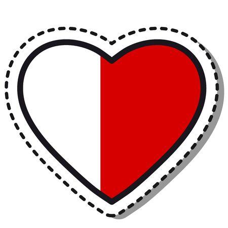 Flag Ajman heart sticker on white background. Vintage vector love badge. Template design element. National day. Travel sign. Imagens - 125260383