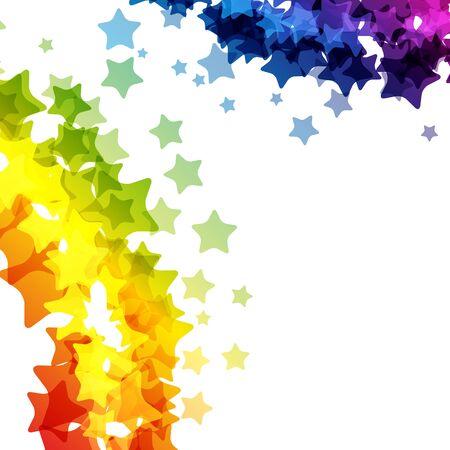 Rainbow stars  border, vector  texture, carnival bright decoration card. Imagens - 126493768