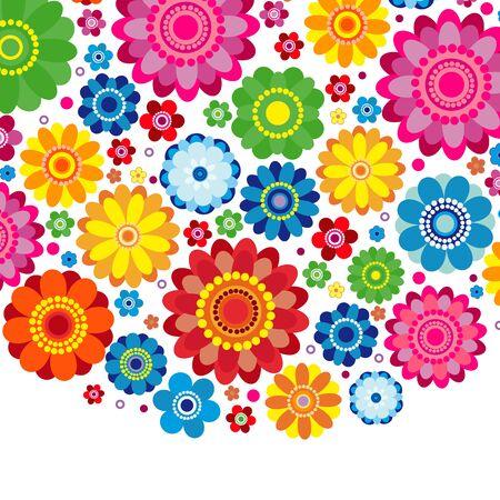 Flowers spring design on a white  background, floral vector illustration. Imagens - 126701364