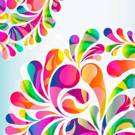 Abstract colorful arc-drop background. Vector. Ilustração Vetorial