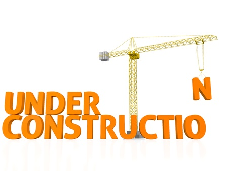 constrution site: Under construction Stock Photo