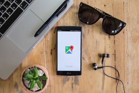 CHIANG MAI, THAILAND - 8 augustus 2016: Een smartphone scherm van Google Maps app icoon