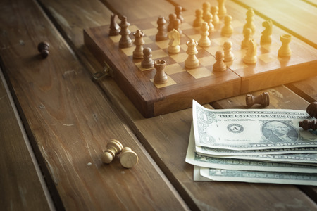 the enemy: Chess. business concept. Stock Photo