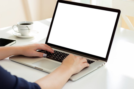 home office: Woman in home office Stock Photo