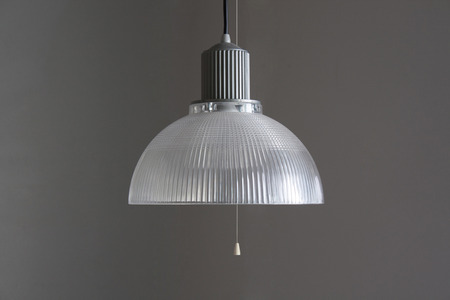 lamp on grey color background photo