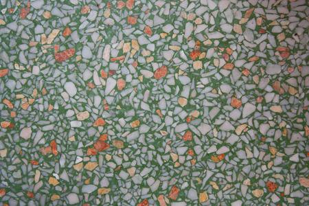 grinta: pavimento piatto graniglia verde di fondo del modello
