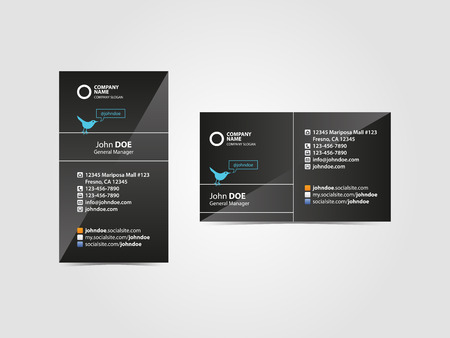 glamorous: Glamorous Professional Social Business Card Illustration