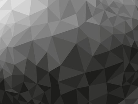 polyhedron: Black abstract geometric rumpled triangular low poly style vector illustration graphic background Illustration